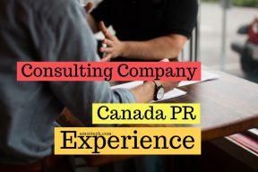 Canada PR consulting company experience