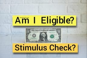 Am I eligible for Stimulus check 2020?