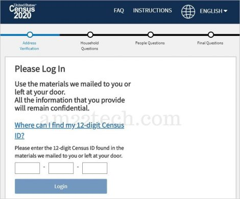 First Step in Census is US address verification