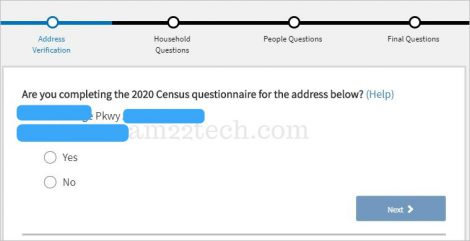 Census address verification