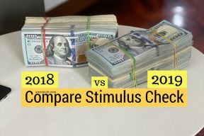 Compare stimulus check amount - 2018 vs 2019 Tax return