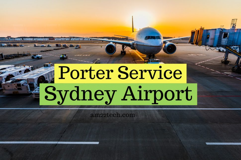 Porter service at Sydney international airport by shuttle company