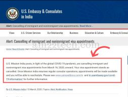 US embassy in India cancels all visa stamping appointments