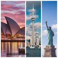 US to Australia, Canada PR