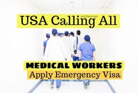 USA calling doctors to treat Coronavirus