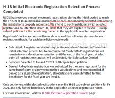 USCIS completes H1B registration lottery April 2020