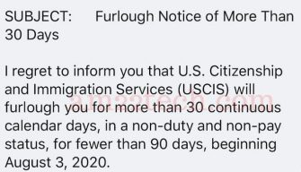 USCIS furlough employee email text