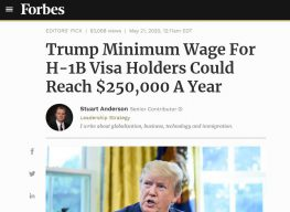 Will Trump Increase h1B Minimum Pay to Favor American Workers?
