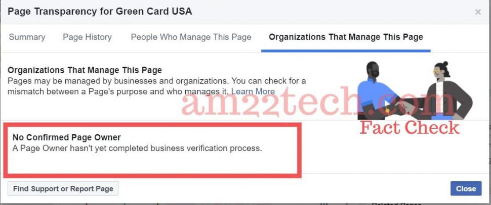 Green-card-USA business not verified