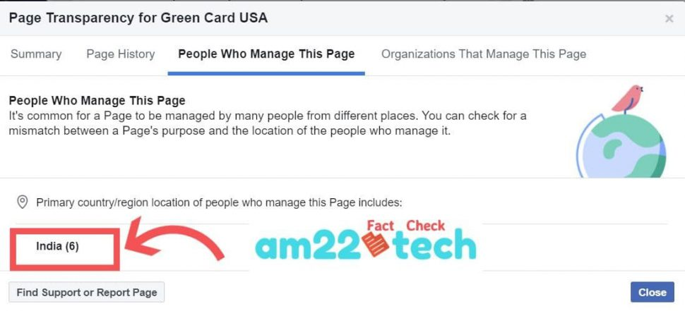 Green-card-USA page manager are based in India