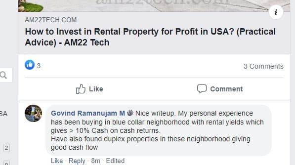 Rental property in Blue collared are gets more than 10% rent easily