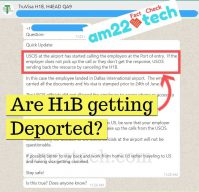 Is US deporting H1B workers after Travel Ban?