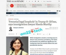 Legal loophole in Trump travel ban - TheHindu news website Sheela Murthy Interview