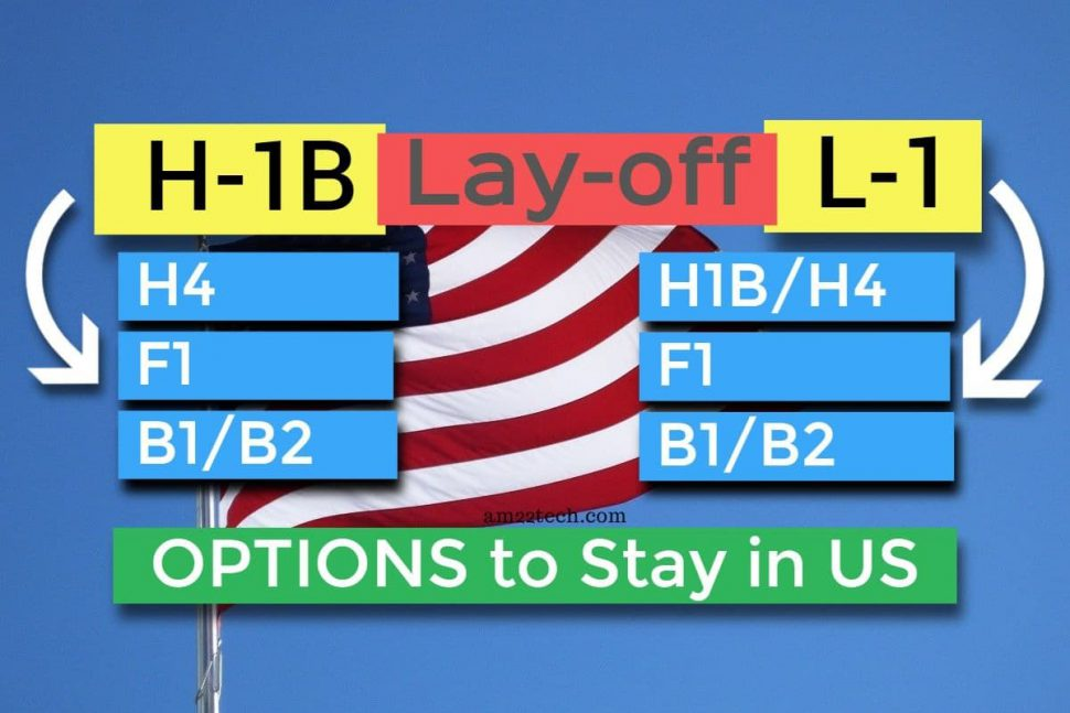 Options to stay in USA after job lay-off