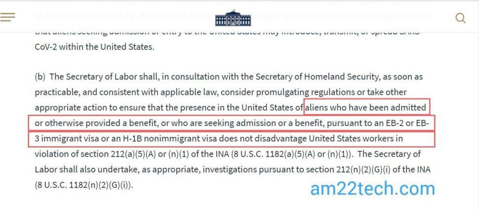 Trump Executive Order - Recertify PERM labor