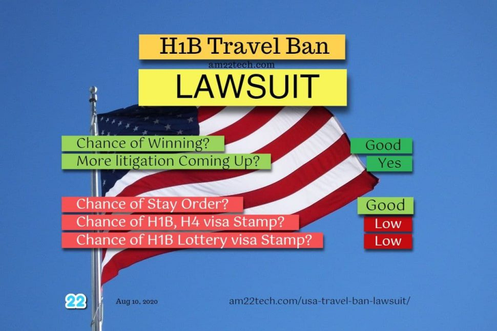 H1B Travel Ban Lawsuit for H1B and H4 family separation