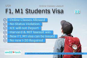 USA student visa - Harvard - MIT online classes lawsuit win
