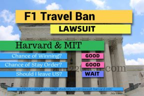 F1 travel ban lawsuit by harvard
