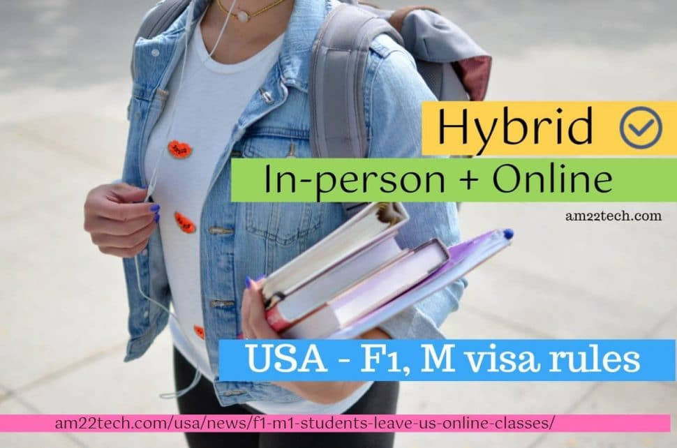 Hybrid mix of in-person online-classes allowed