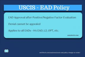USCIS EAD policy change - positive, negative factors after Trump EO