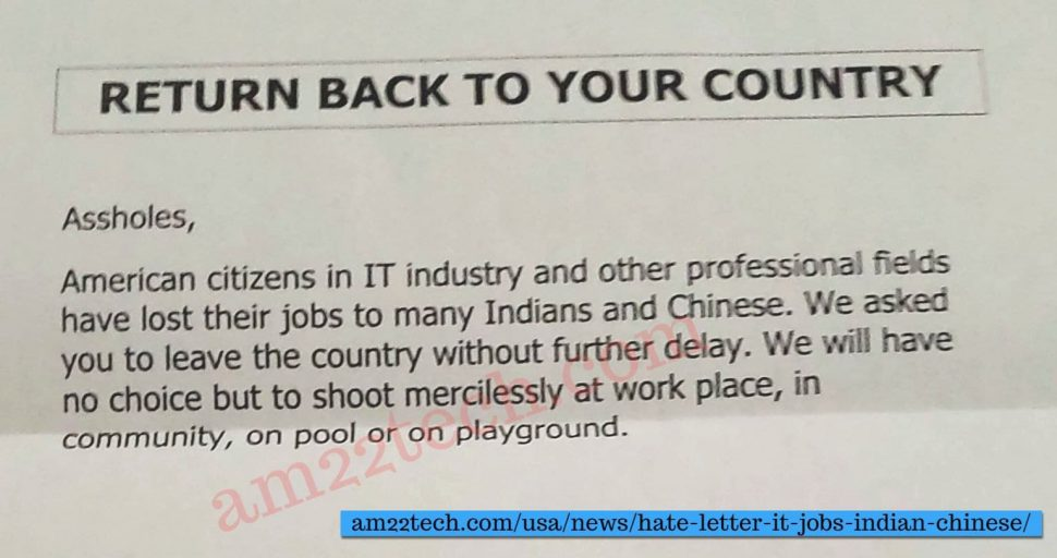 Texas resident IT worker receives letter asking to leave the US