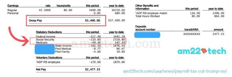 Trump order payroll tax cut