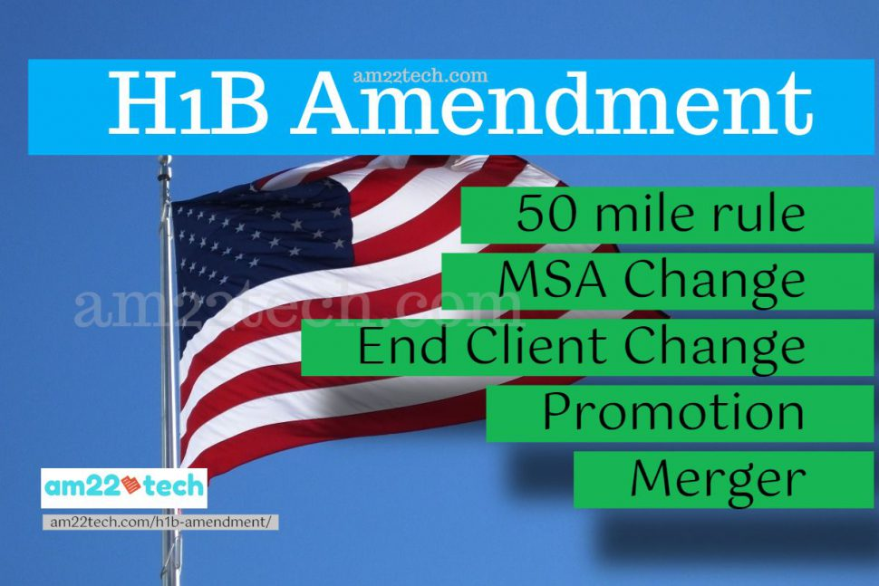 Is H1B Amendment required? What are material change rules?