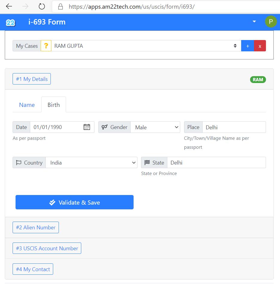 How to fill USCIS i693 form easily