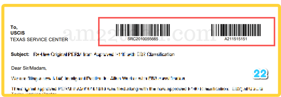 USCIS medical interfile letter with both receipt and A number barcode that attorneys recommend